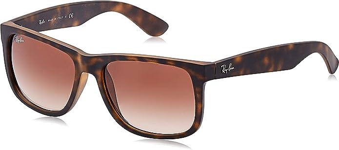 Ray-Ban - Gafas de sol unisex (goma, talla única), color marrón