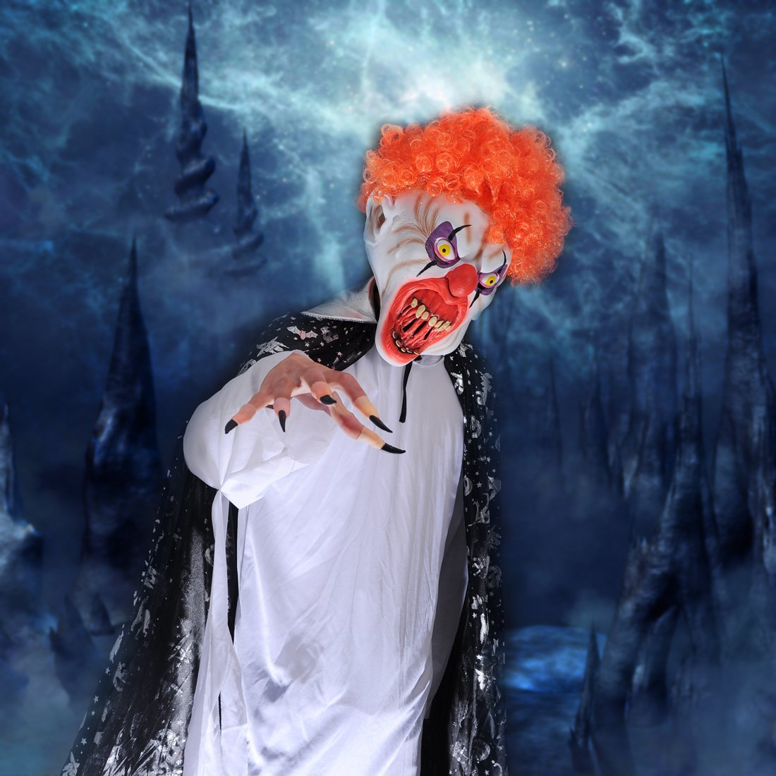 Smiffys Mens Scary Clown Mask White /& Red One Size 35710 RH