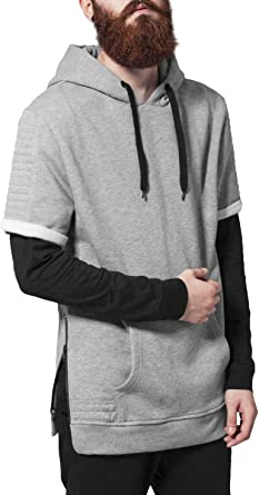 meet 3dcff e3654 Urban Classics Herren Sweatshirt Kapuzenpulli Short Sleeve Side Zipped Hoody