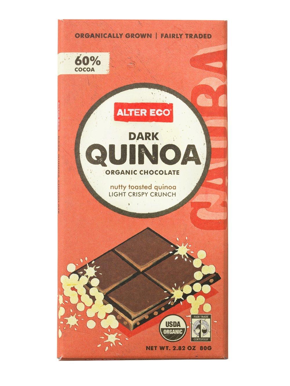 Amazon.com : Alter Eco - Dark Quinoa Organic Chocolate - 2.82 oz ...