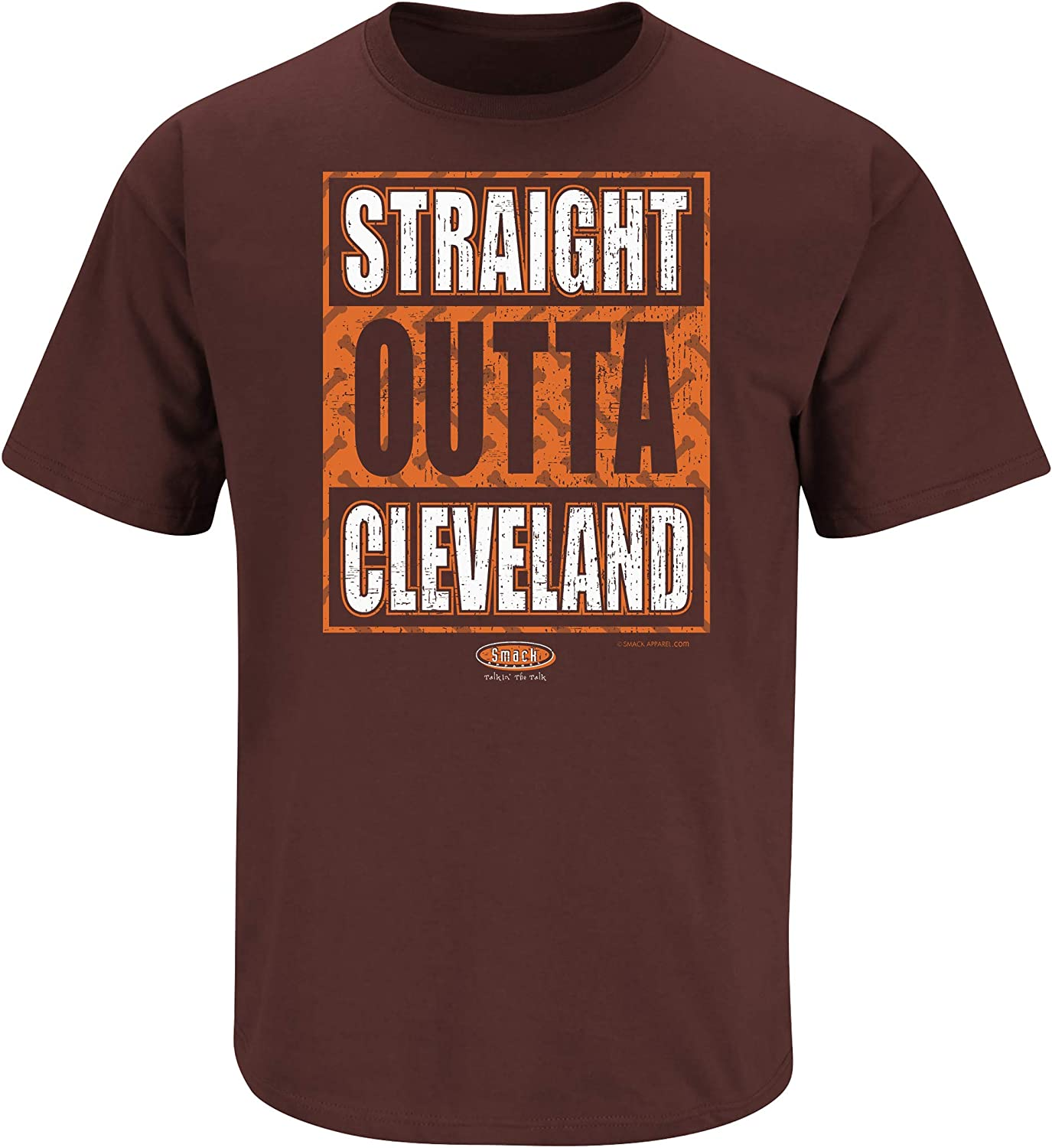 Straight Outta Cleveland Brown T Shirt Sm-5X Smack Apparel Cleveland Football Fans