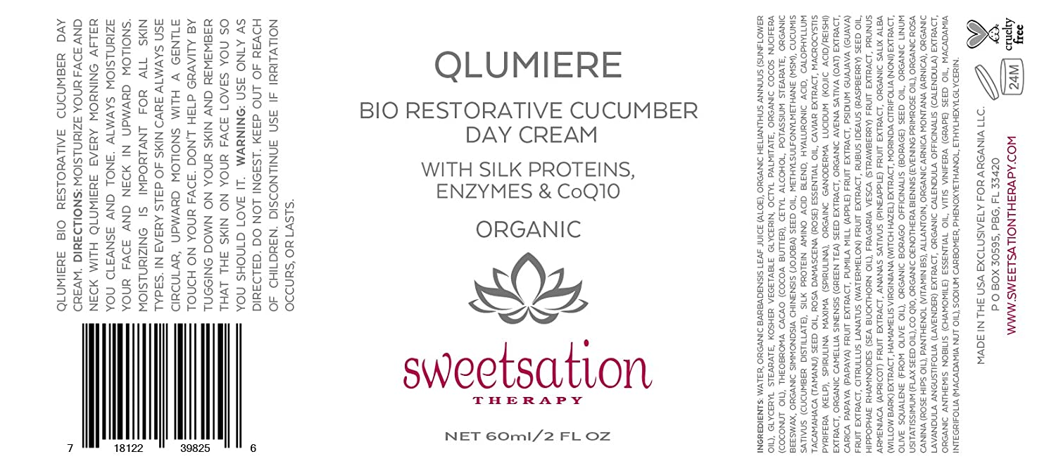Q Lumiere Bio-Restorative Cucumber Day Creme with Silk Proteins ...