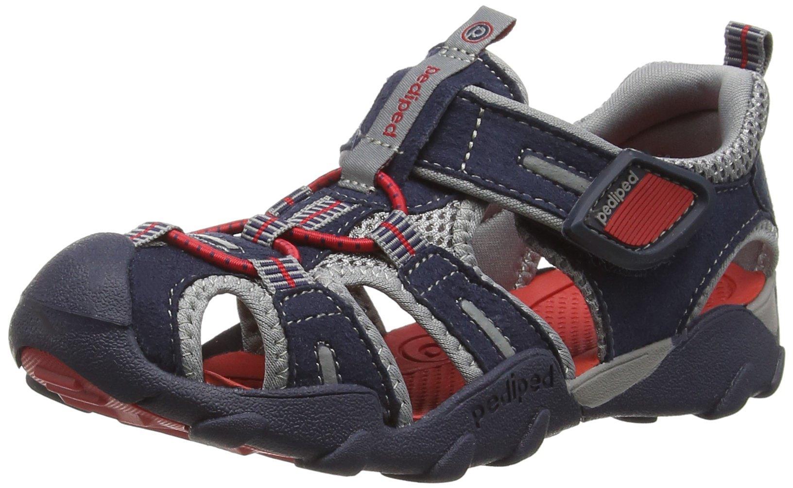 pediped Flex Canyon Water Sandal (Toddler/Little Kid/Big Kid), Navy/Red, 24 EU(7.5-8 E US Toddler)