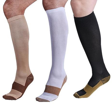 Calcetines Larga de compresión, neutras (38 – 41) para mujer y hombre.