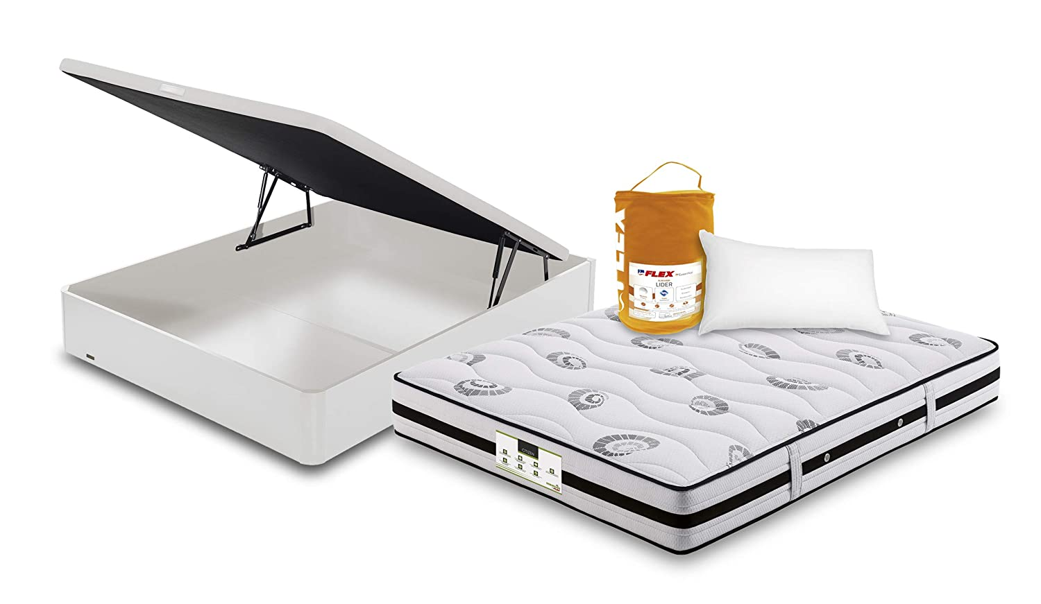Flex Pack CANAPE ABATIBLE Mad 19 Tapa 3D COLCHON Citizen Almohada LIDER WENGUE 90x190: Amazon.es: Hogar