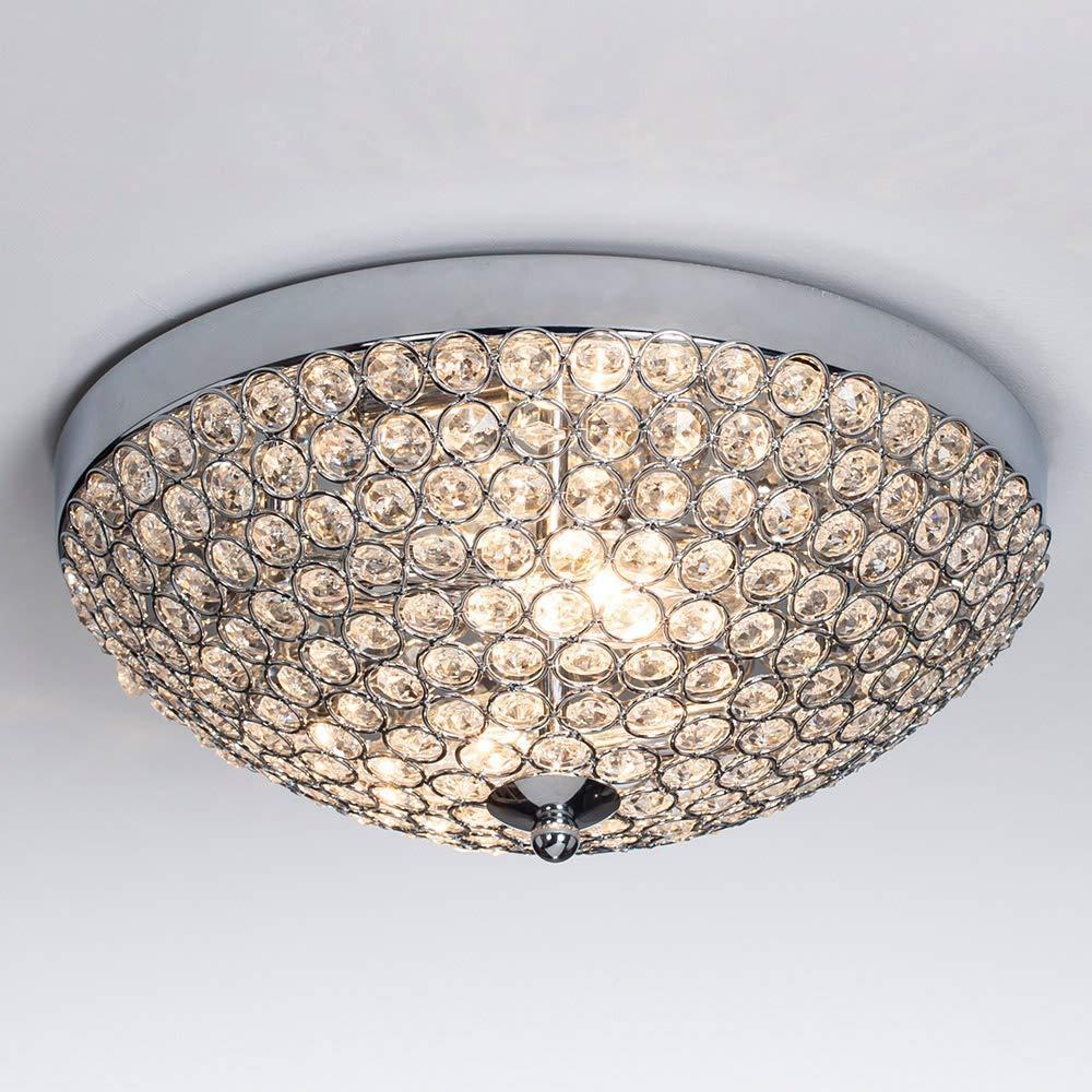 Sottae elegant 2 lights crystal cental shade chrome finish bedroom living room hallway kids room modern crystal chandelier ceiling light ceiling