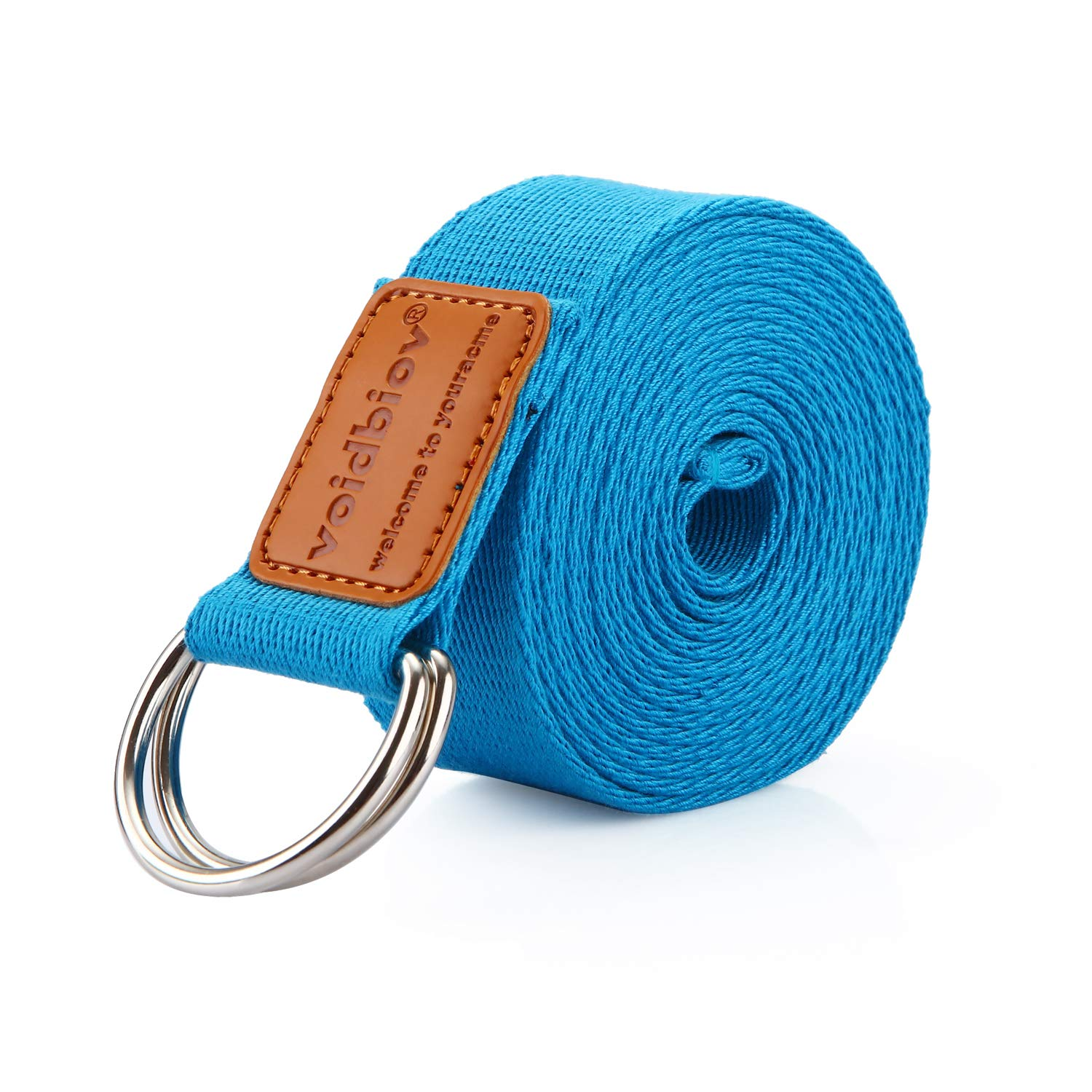 voidbiov D-Ring Buckle Yoga Strap 1.85 or 2.5M, Durable Cotton Adjustable Belt Perfect for Holding Poses, Improving Flexibility and Physical Therapy