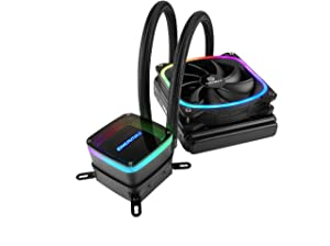 Enermax Aquafusion 120 Addressable RGB All-in-One CPU Liquid Cooler Intel/AMD 115x/2066 AM4 Ready AIO ARGB LED Cooling w/SquA RGB PWM Fan; ELC-AQF120-SQA