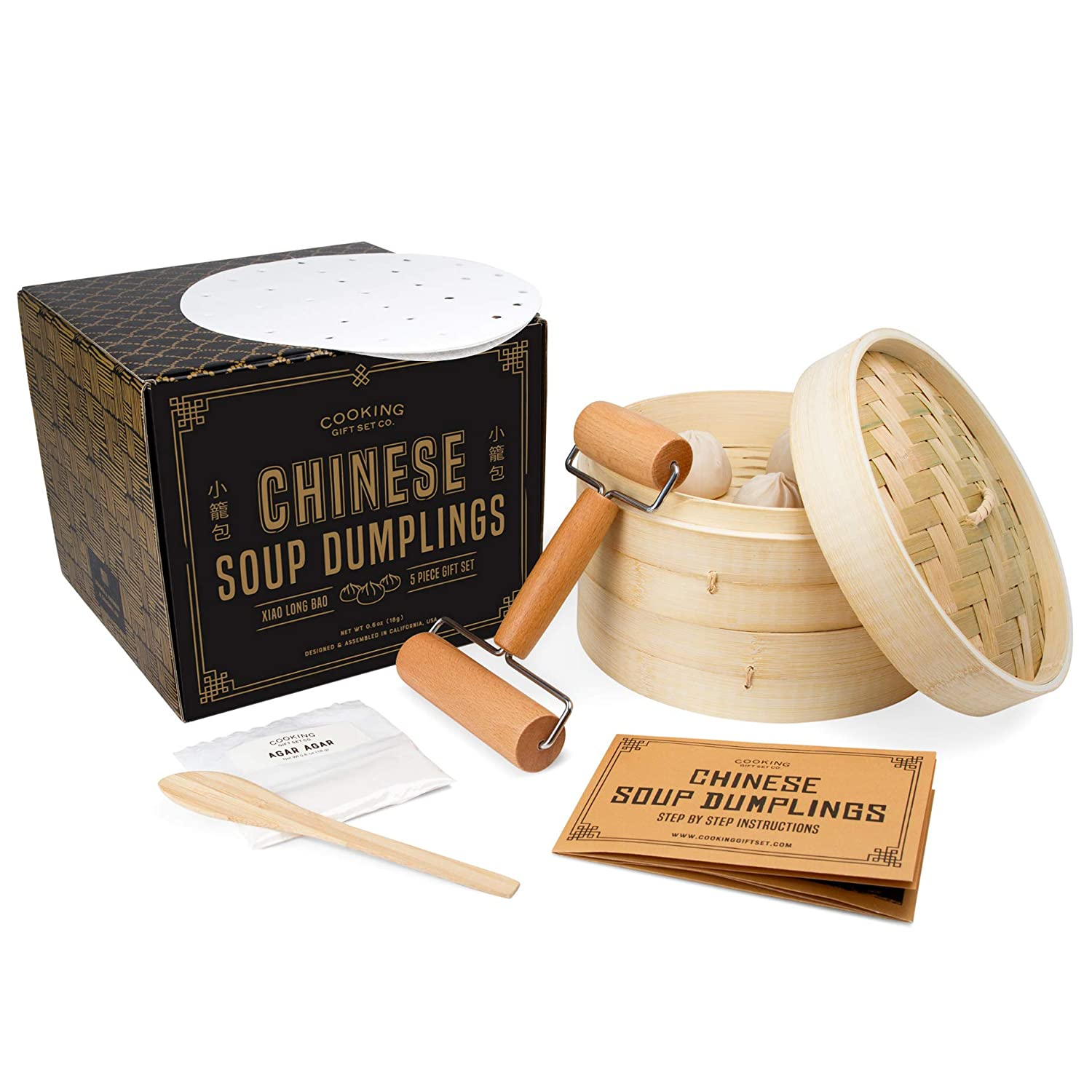 Cooking Gift Set | 5 PC Chinese Soup Dumpling Kit | Unique Gifts for Friends | Kitchen Gifts for Women Who Love to Cook
