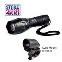 Store2508 High Power LED Torch with XML-T6 LED-Chip, Includes Cycle Mount (LE54A, Black)
