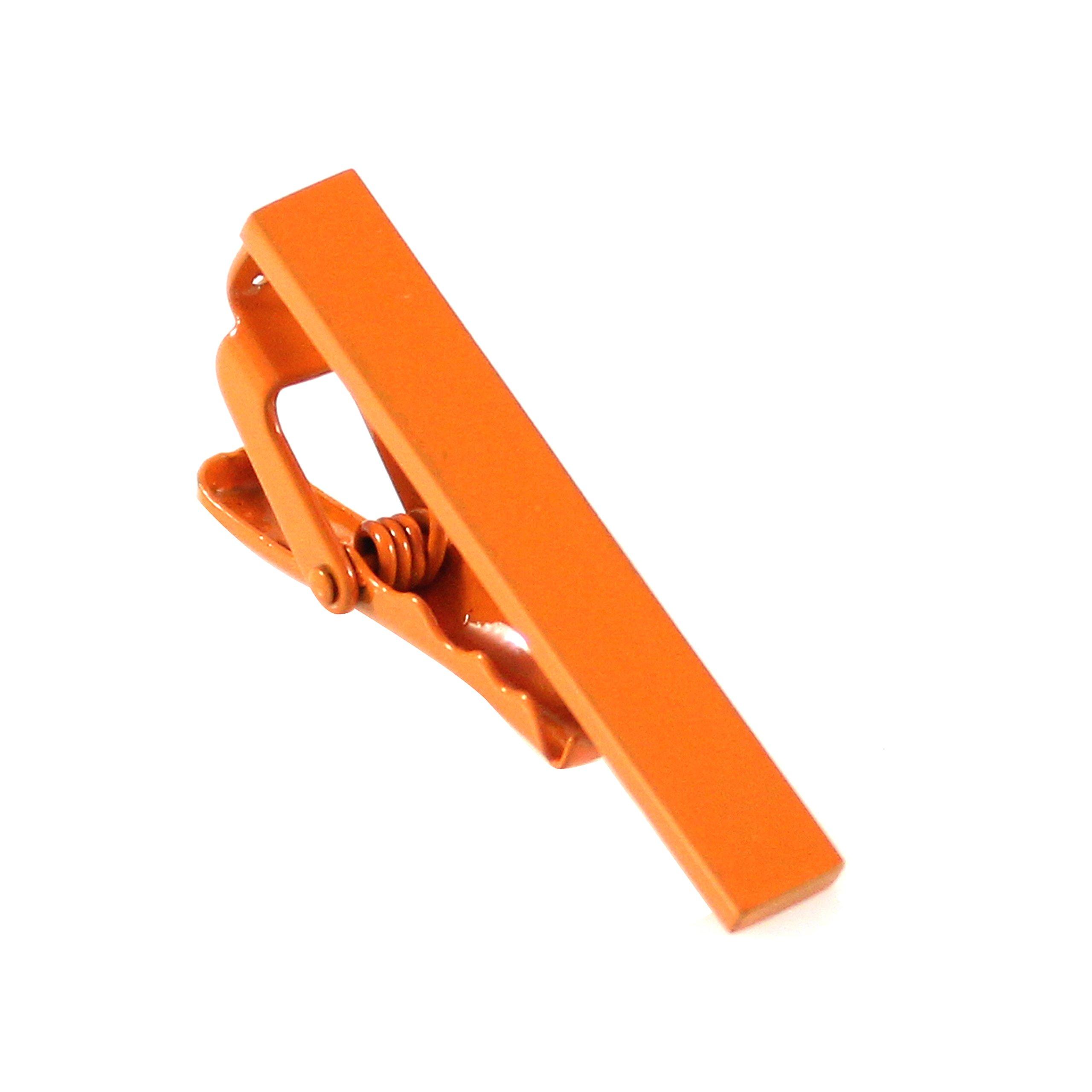 MENDEPOT Color Tie Clip 40mm Color Sprayed Tie Bar Seven Colors Optional (Orange)