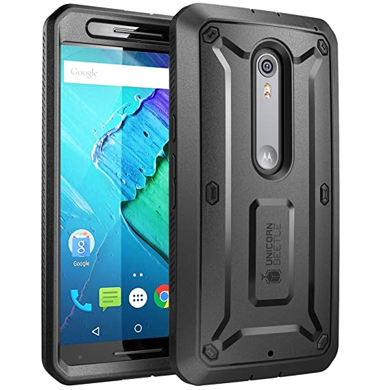 the latest 51bc0 d0c67 SUPCASE [Unicorn Beetle PRO Series for Motorola Moto X Style/Pure Edition  2015, [Heavy Duty] Belt Clip Holster Case with Built-in Screen Protector ...