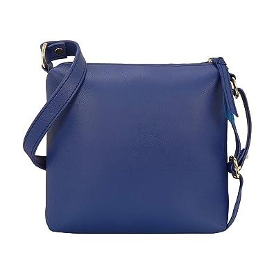 8201a01d9fb Bagclan Womens Sling Bag (Blue)  Amazon.in  Shoes   Handbags