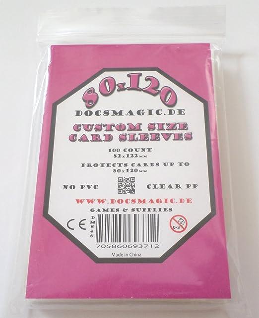 docsmagic.de 100 Magnum Board Game Sleeves - 80 x 120 - 82 x 122: Amazon.es: Juguetes y juegos