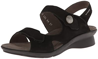 39c0a8733e Mephisto Womens Prudy Black Sandals 35 (US Women's 5) B - Medium