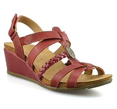 cfe62e63069 Earth Origins Ladies Womens Leather Mid Wedge Heel Casual Summer Gladiator Sandals  Shoes Size UK
