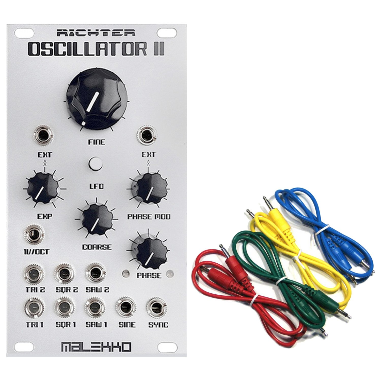 Malekko Heavy Industry Richter Oscillator II Eurorack Modular w/ 4 Cables