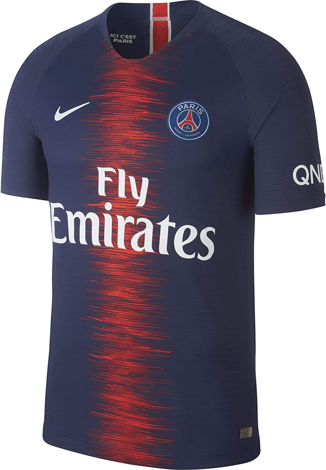 Amazon Com Nike 2018 2019 Psg Authentic Vapor Match Home Football Soccer T Shirt Jersey Sports Outdoors