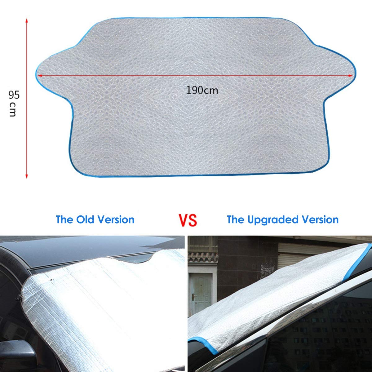 Front Windshield Sun Shade Ice Frost Shield for Car Snow Dust UV Protector Cover Blocker