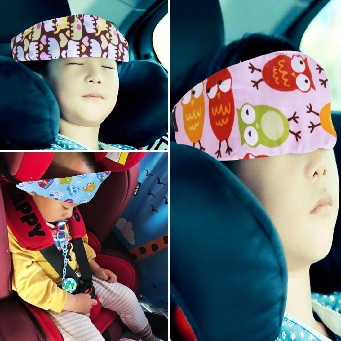 4 Pcs Toddler Car Seat Infants And Baby Head Support Neck Relief Strap Safety Stroller Adjustable Holder Sleep Belt Dollshouse