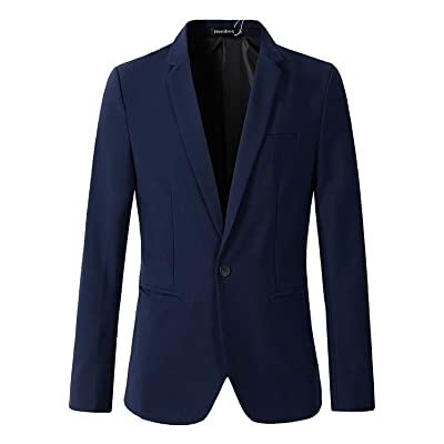 Beninos Men's Casual 1 Button Slim Fit Blazer Jacket Sport Coat at Amazon Men's Clothing store