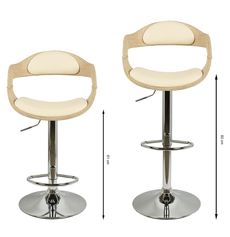 ts-ideen 1 x Barhocker Retro Chill Lounge Polster Club Bar Stuhl ...