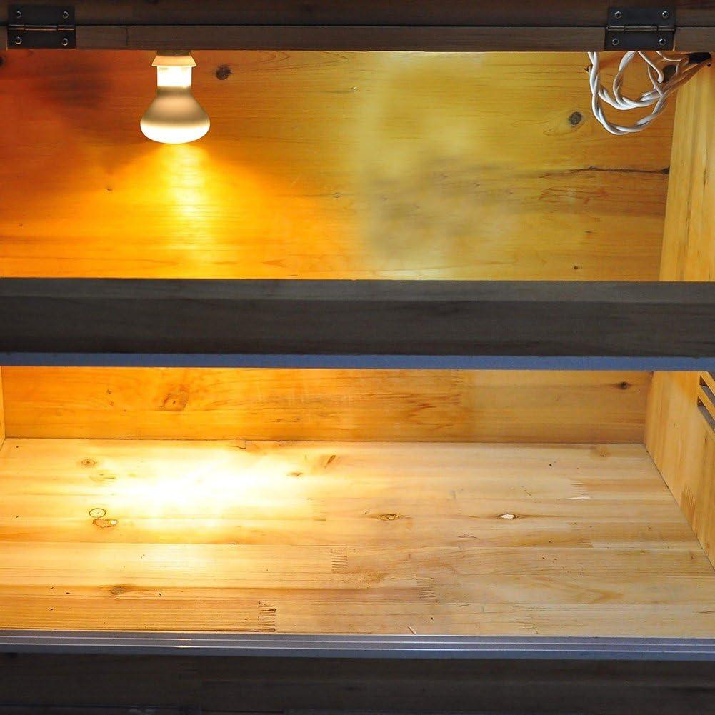 PROKTH E27 Heating Lamp for Amphibian Bird Snake Reptile Basking Light Transperant for Day Use