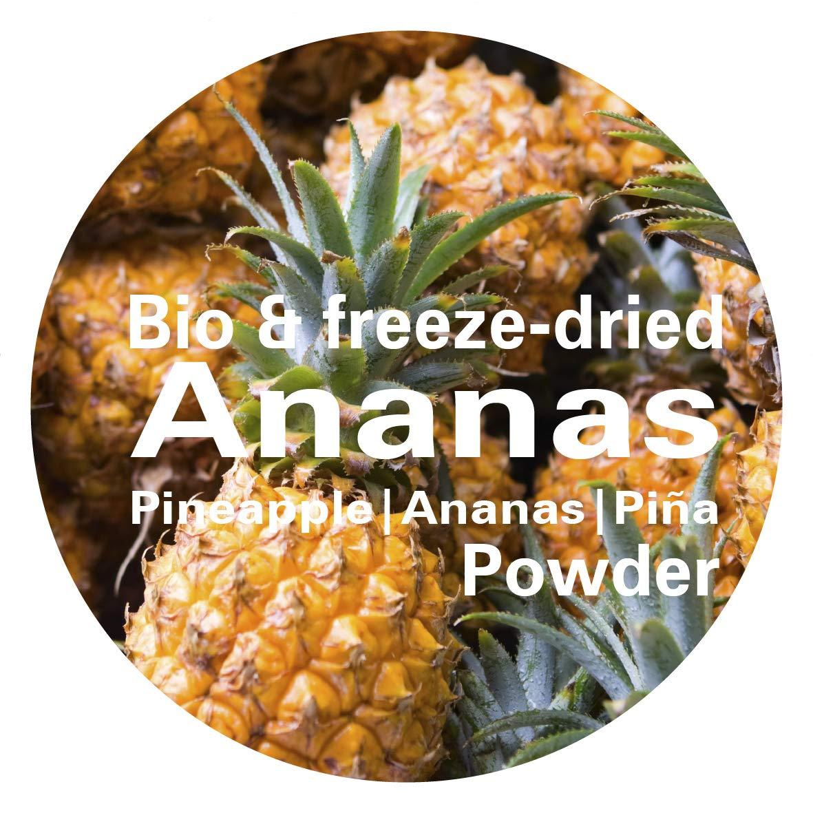 Piña en Polvo - Liofilizado|biológico|vegano|crudo|pura fruta|no aditivo|rica en vitamina|Good Nutritions 120g: Amazon.es: Alimentación y bebidas