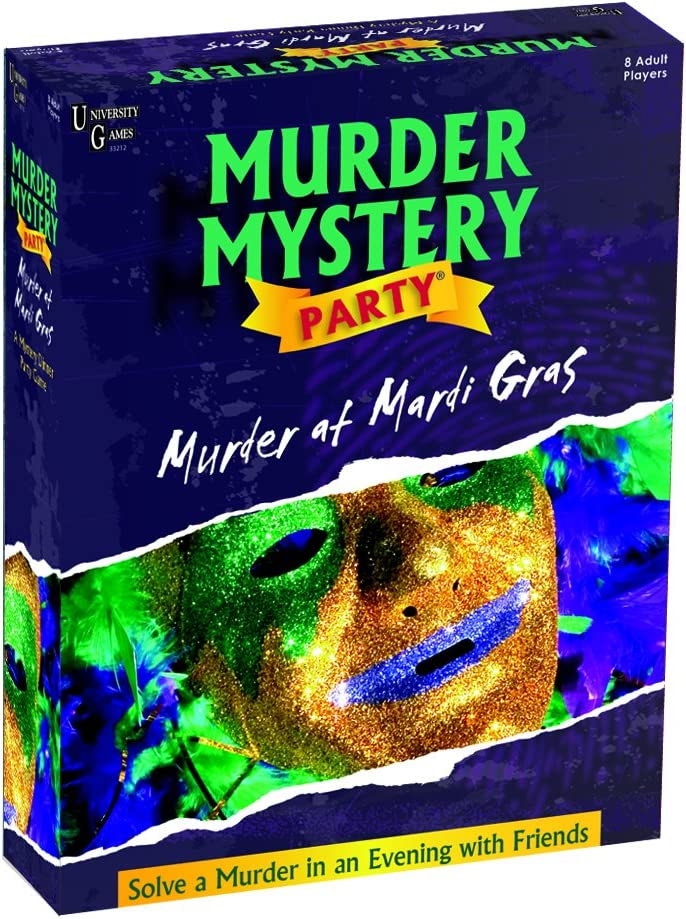 Murder Mystery Party Games - Murder At Mardi Gras, Host Your Own New Orleans Murder Mystery Dinner for 8 Adult Players, Solve the Case with Crime Scene Clues, 18 Years and Up