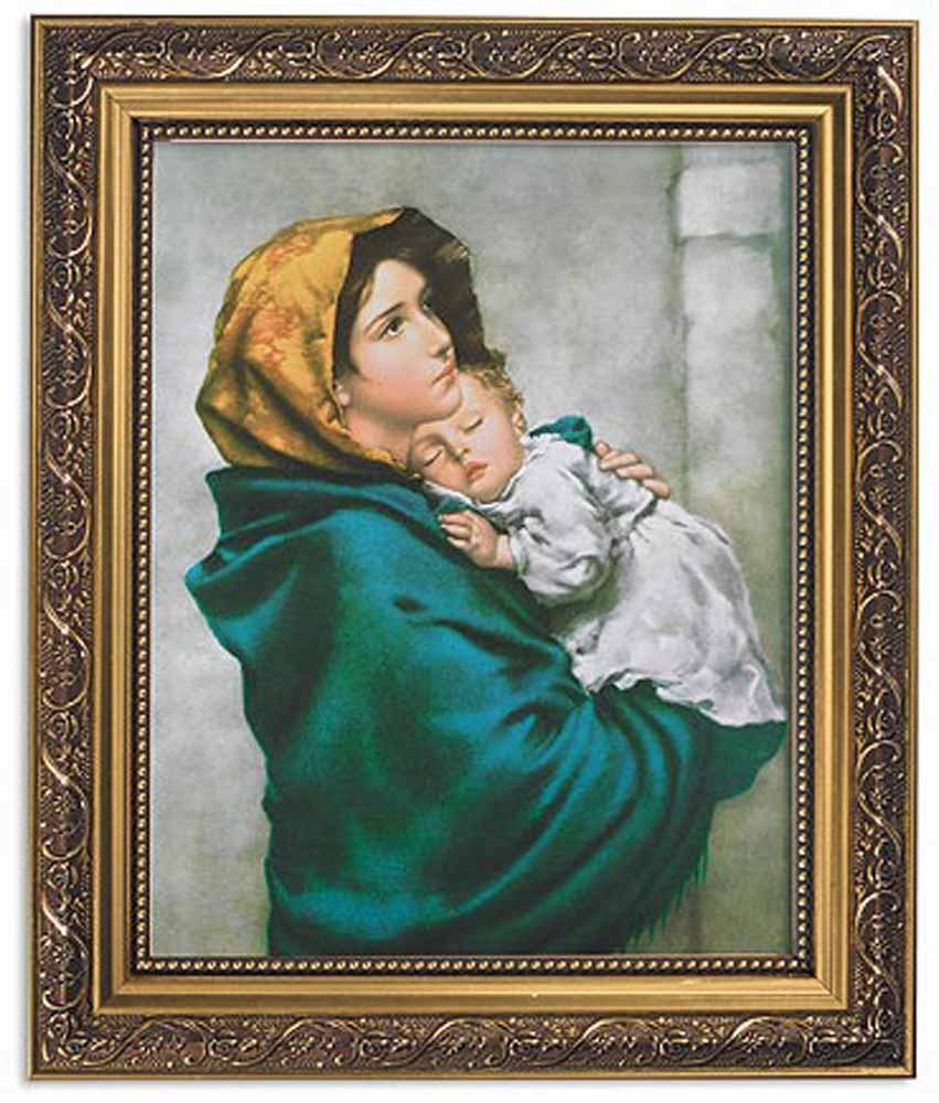 US Gifts Ferruzzi: Madonna of The Streets Series Old Masters Gold Finish Frame