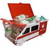 First Aid Kit - Baby & Child Care Supplies in American Ambulance Box - Compact and Travel Friendly, Perfect for Home, Boat, Caravan, Car