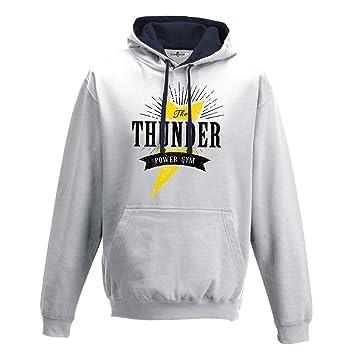 KiarenzaFD Sudadera Capucha Bico Culturismo Gimnasio Gym Training Disco The Thunder 1 Hombre: Amazon.es: Deportes y aire libre