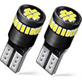 AUXITO 194 LED Bulbs 168 175 2825 W5W T10 24-SMD 3014 Chipsets 6000K White for Car Dome Map Door Courtesy License Plate Parking Lights Pack of 2