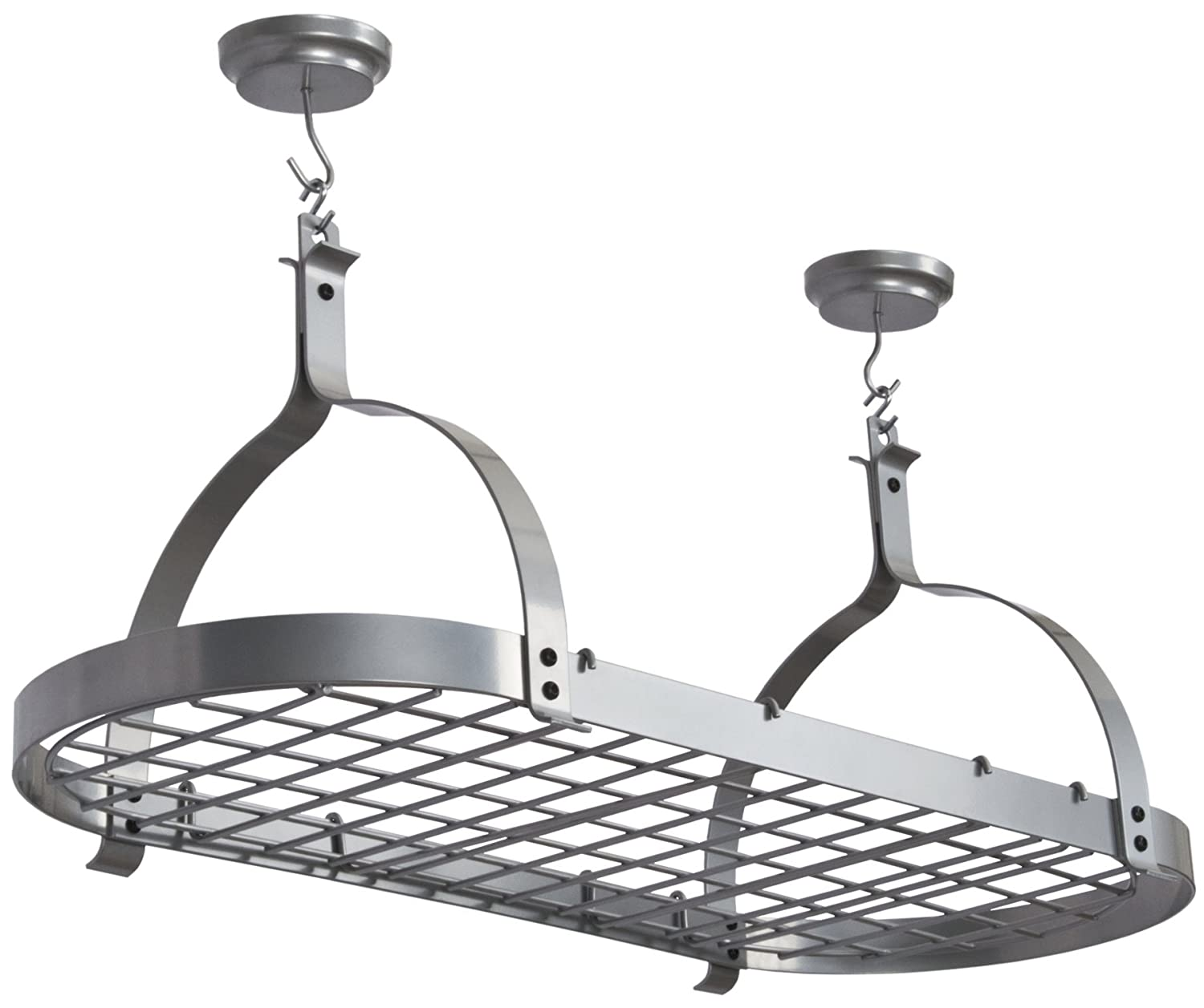 Enclume MPO 01 SS PC RACK IT UP Oval Ceiling Rack, Silver 42