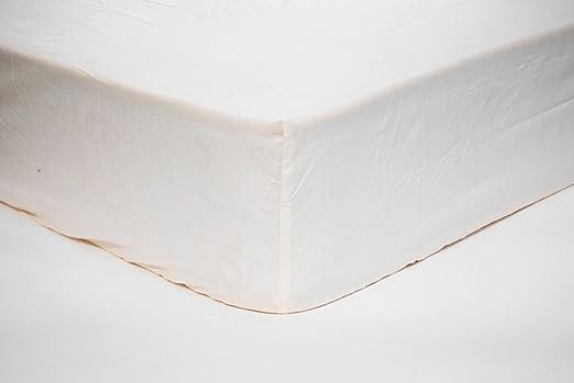 Sábana bajera ajustable para cama de 200x200 cm. 100% algodón ALTA CALIDAD. (Beige): Amazon.es: Hogar