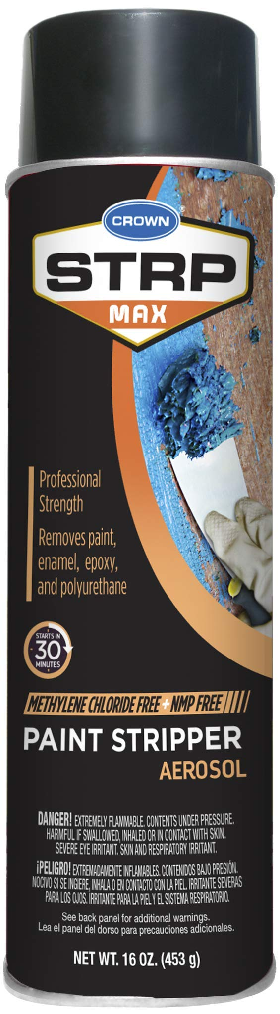 Crown STRP Max Professional Strength Aerosol Paint Stripper
