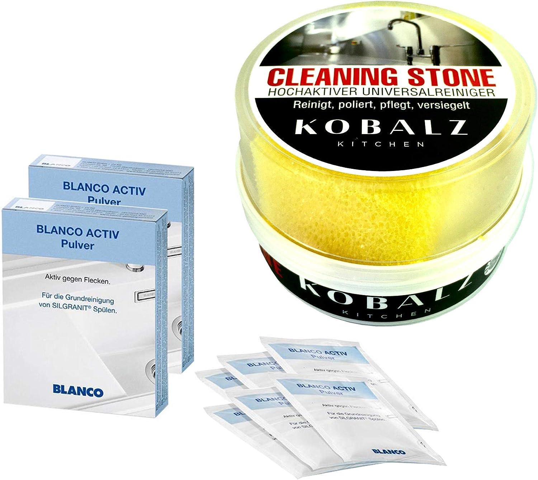 Juego de 2 blanco 520784 Activ limpiador de polvo para fregaderos Silgranit – Activo contra manchas: Amazon.es: Salud y cuidado personal