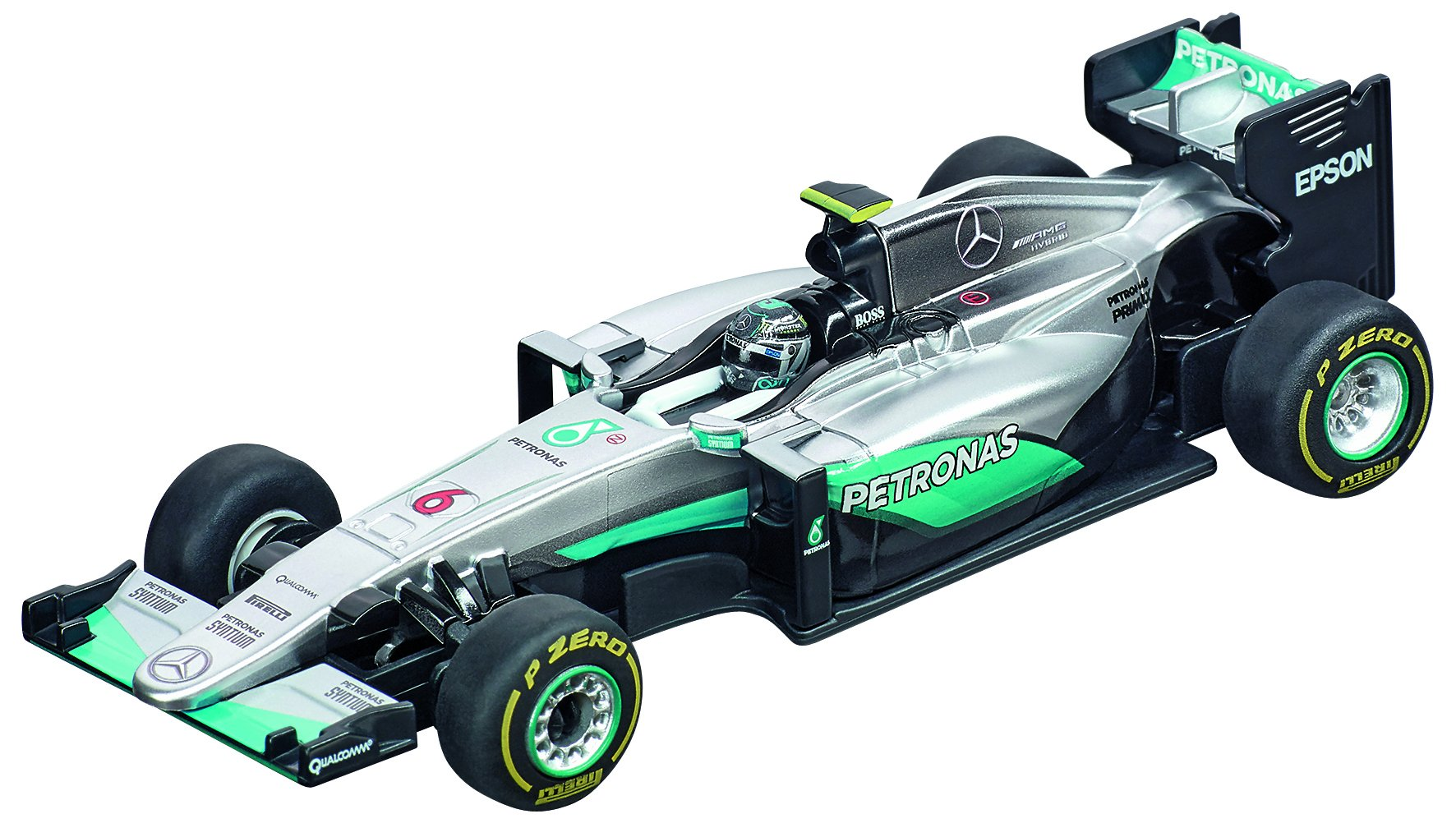Carrera USA Carrera 64096 GO Mercedes F1 W7 Hybrid, Nico Roserg, No.6 Slot Car (1:43 Scale)