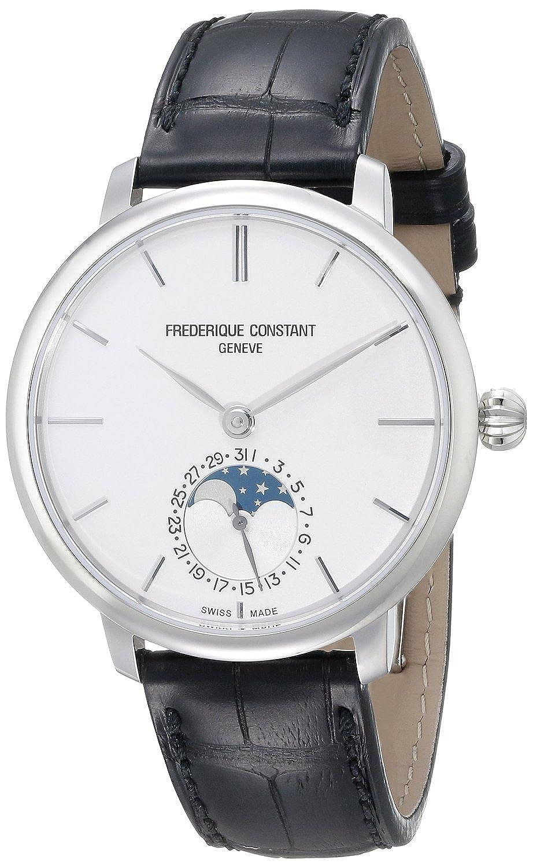 フレデリックコンスタント Frederique Constant Men's FC703S3S6 Slim Line Analog Display Swiss Automatic Black Watch [並行輸入品] B01AYJTCZK