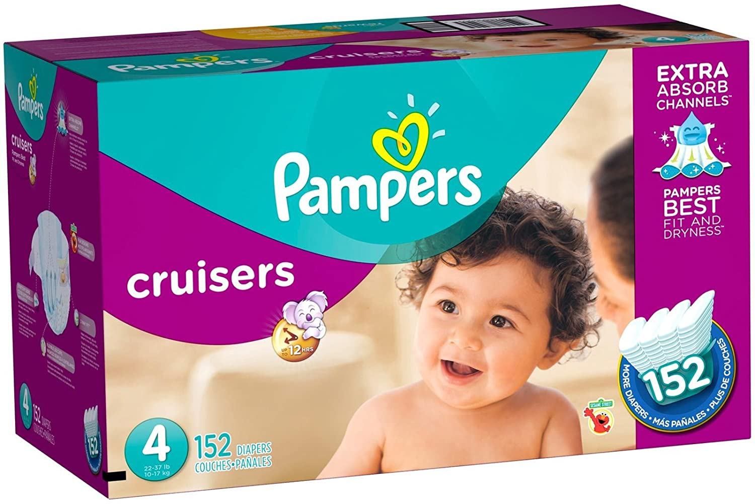 Pampers Cruisers Diapers SIZE 3 4 5 6 7 ECONOMY PACK PLUS FREE SHIPPING