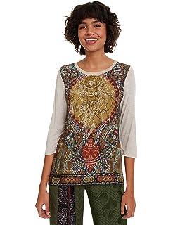 Desigual CAM_Glenn Blusa, Amarillo (Curry 8030), XX-Large para Mujer: Amazon.es: Ropa y accesorios