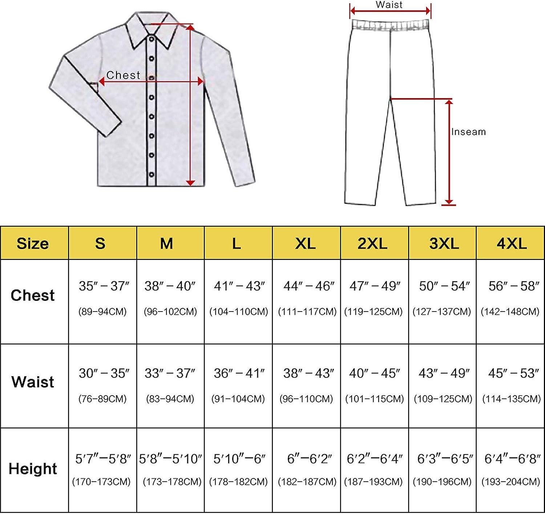Jeff Tribble Mens Silk Satin Pajamas Set Pajama Sleepwear Loungewear S,M,L,XL,XXL,XXXL,4XL Plus Size Big and Tall