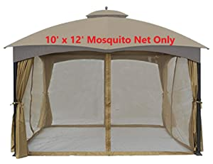 APEX GARDEN Universal 10' x 12' Gazebo Replacement Mosquito Netting (Mosquito Net Only)