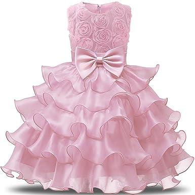 Luckyod Vestido de niña de Las Flores para la Boda Bebé niña ...