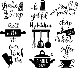 Vancetyno Kitchen Wall Decals Bon Appetit My Kitchen Decal DIY Art Letters Wall Stickers Dining Room Vinyl Decal Home Decor