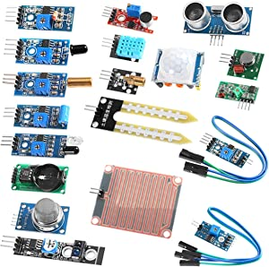 Organizer Sensor Modules Kit, 16 in 1 for Arduino Raspberry Project Super Starter Kits for UNO R3 Mega2560 Mega328 Nano Raspberry Pi 4b 3 2 Model B K62