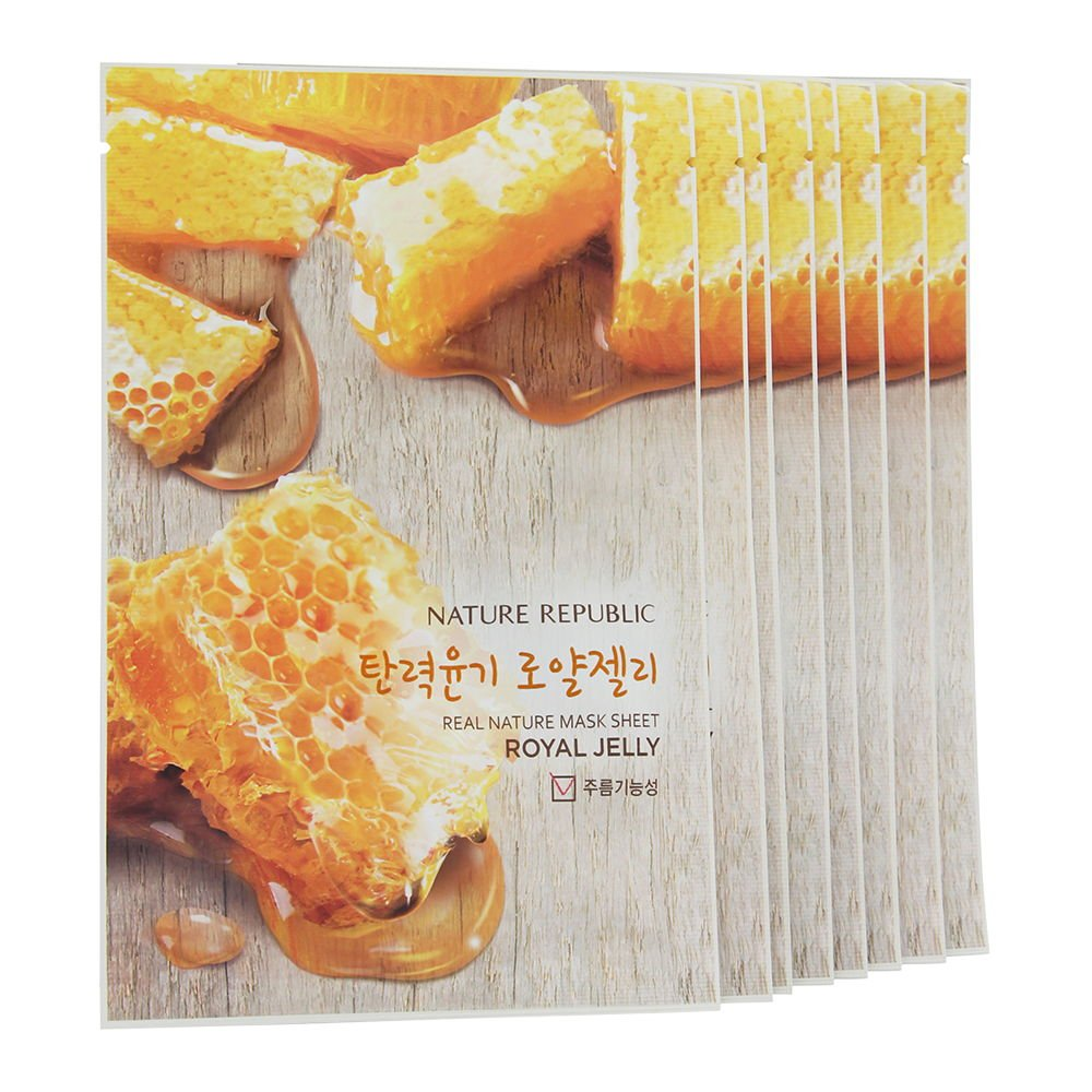 Nature Republic Real Mask 10 Sheets For Skin Masker Hydration Royal Jelly Beauty