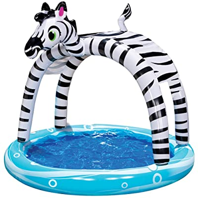 Spring & Summer Toys Banzai Shade 'N Sun Zebra Pool with Removable Canopy: Toys & Games