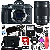 Canon EOS M5 Mirrorless Digital Camera Black + EF-M 18-150mm IS STM Lens Kit + 64GB SDXC Memory Card + 11 Pcs Accessory Bundle