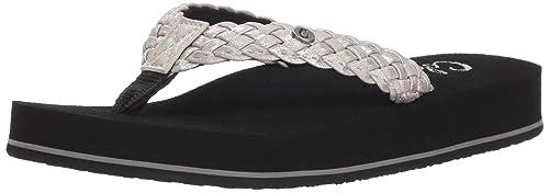 63f3dca36e48 cobian Women s Braided Bounce Flip Flop  Amazon.co.uk  Shoes   Bags